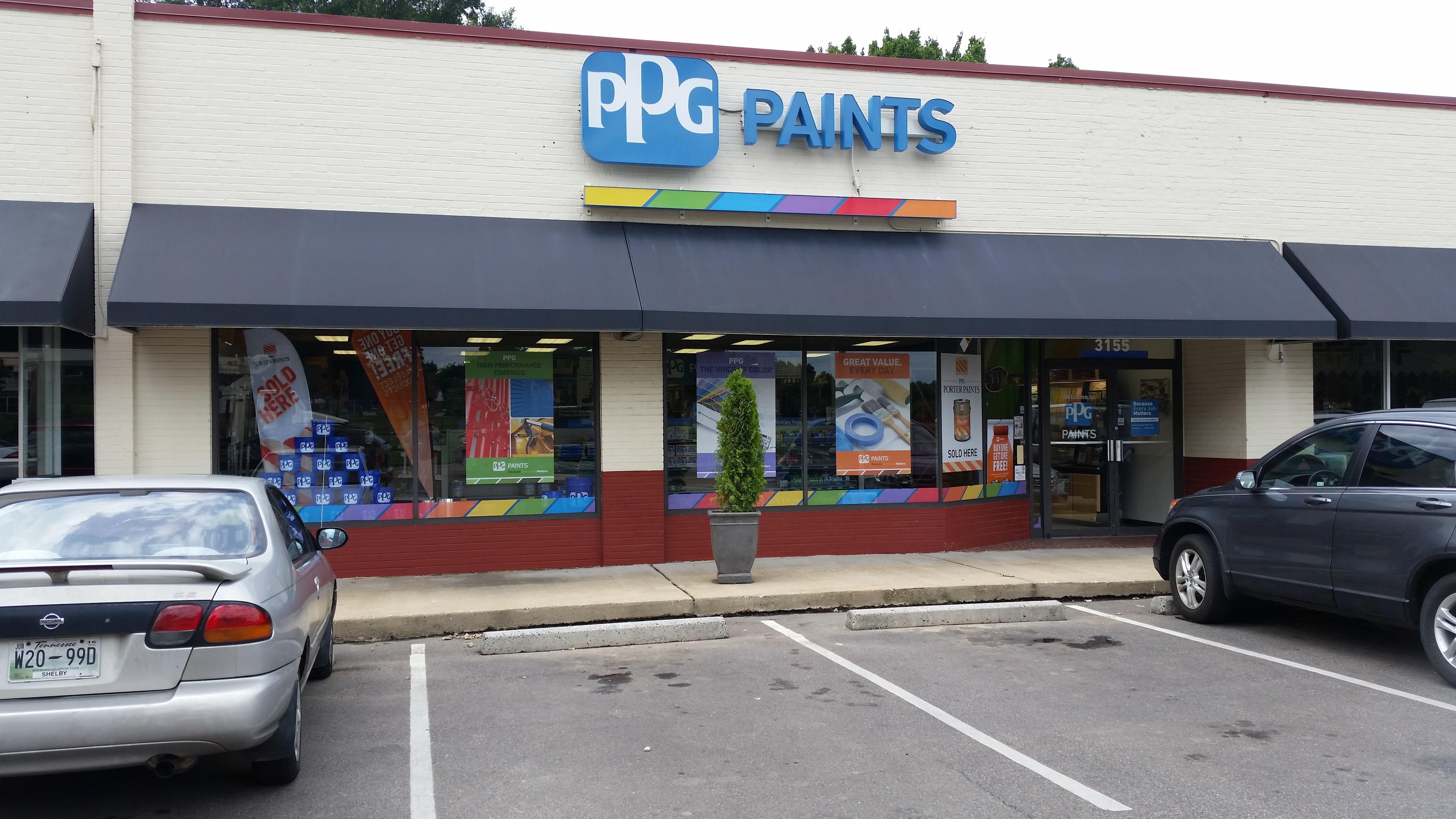 Ppg paints memphis paint store for Ppg automotive paint store